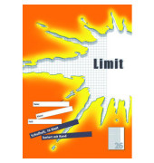 Schulheft Limit A4 Lineatur 26 kariert mit Rand weiß 16 Blatt