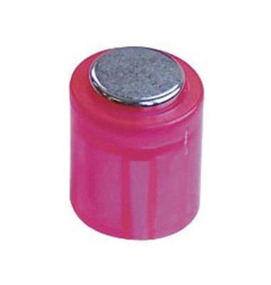 Haftmagnete rund Super Power Magnet Zylinder rosa 14x9mm 6 St