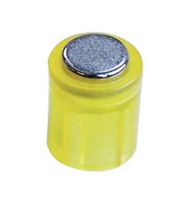 Haftmagnete rund Super Power Magnet Zylinder gelb 14x9mm 6 St