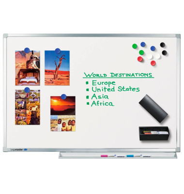 Whiteboard Professional 200 x 120cm emailliert Aluminiumrahmen