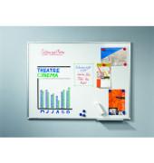Whiteboard Premium Plus 120 x 120cm emailliert Aluminiumrahmen