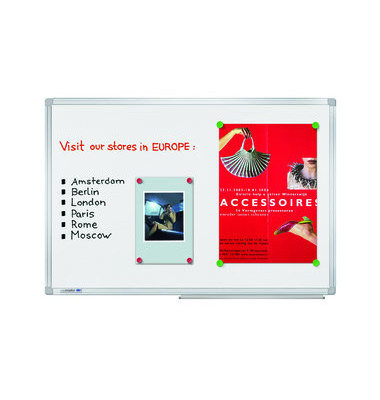 Whiteboard Universal Plus 200 x 100cm emailliert Aluminiumrahmen