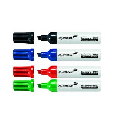 Boardmarker TZ150 4er Etui farbig sortiert 2-7mm Keilspitze