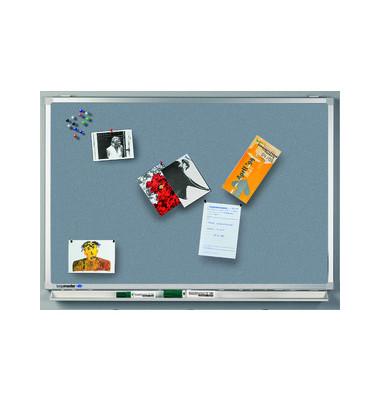 Pinnwand PROFESSIONAL 7-140674, 180x120cm, Textil, Aluminiumrahmen, grau