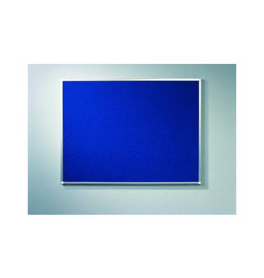 Pinnwand PREMIUM 7-141543, 90x60cm, Textil, Aluminiumrahmen, blau
