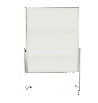 Moderationstafel Premium 7-204000, 120x150cm, Karton + Karton (beidseitig), pinnbar, mit Rollen, weiß + weiß
