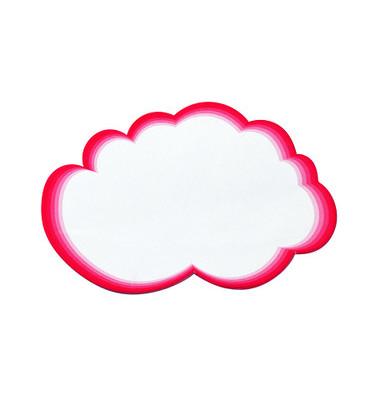 Moderationskarten Wolken rot/weiß 14,5x23cm 20 Stück