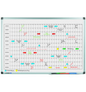 Jahresplaner Premium Monatsplaner magnetisch 60 x 90cm