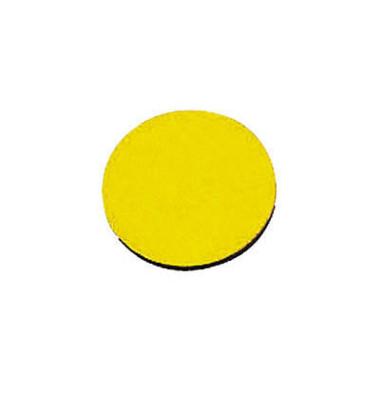 Magnetsymbole Kreise gelb 10mm 54 Stück