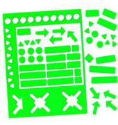 Magnetsymbole sortiert 10mm grün 70 Stück