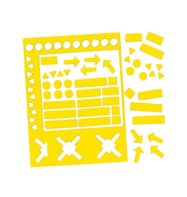 Magnetsymbole sortiert 10mm gelb 70 Stück