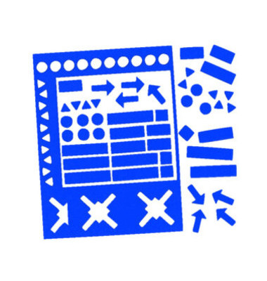 Magnetsymbole sortiert 10mm blau 70 Stück