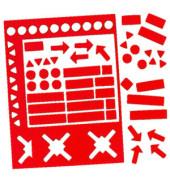 Magnetsymbole sortiert 10mm rot 70 Stück