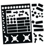 Magnetsymbole sortiert schwarz 20mm 30 St