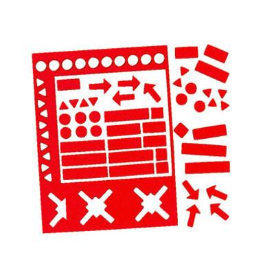 Magnetsymbole sortiert 20mm rot 30 Stück