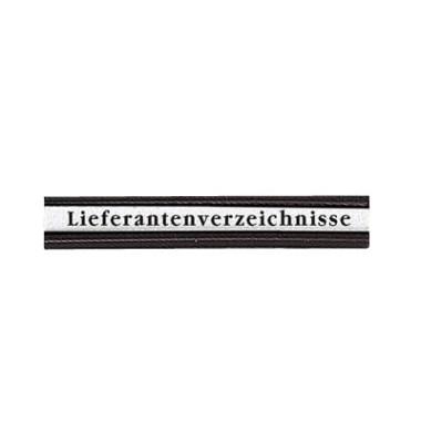 Etikettentraeger für Plantafeln schwarz 10 x 60mm 72 Stück