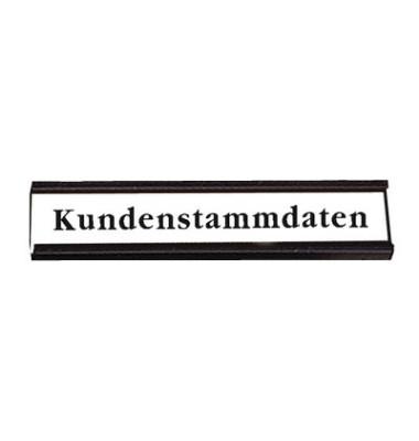 Etikettenträger für Plantafeln schwarz 15 x 60mm 63 Stück