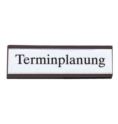 Etikettentraeger für Plantafeln schwarz 20 x 60mm 54 Stück