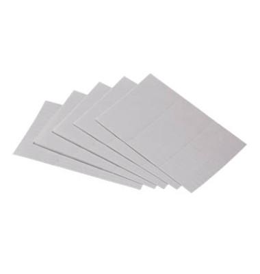 Einlegeetiketten 4552 15 x 60 mm weiß für Etikettenträger 120 Stück
