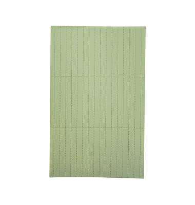 Einlegeetiketten für Etikettenträger grün 20 x 60mm 90 Stück