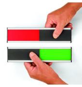 Türschild Besetzt/Frei 6 x 25cm 2 - farbig