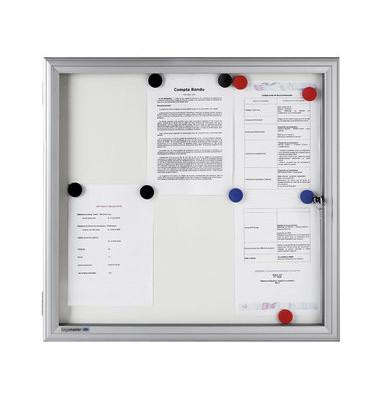 Schaukasten Premium 18x A4 für Außenbereich weiß Drehtür mit Schloß