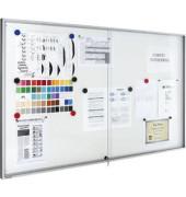 Schaukasten Premium 21 x A4 Premium Metallrückwand weiß magnetisch