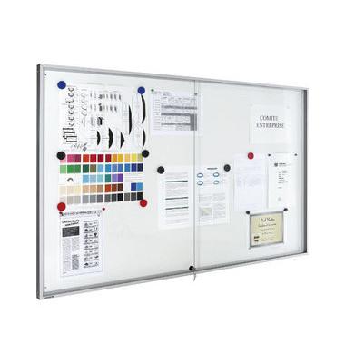 Schaukasten Premium 21 x A4 mit Schiebetür weiß