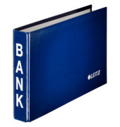 Bankordner 1002 blau 20mm-2-Ring-Mechanik mit Aufschrift BANK