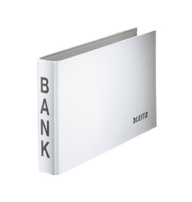Bank-Ordner 2-Ring 20mm weiß m.Aufschrift Bank