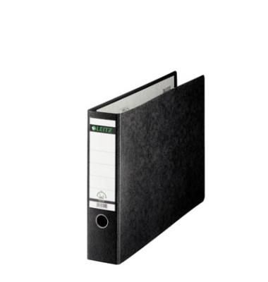 Ordner 1073 A3-quer 77mm schwarz Recycling mit Griffloch