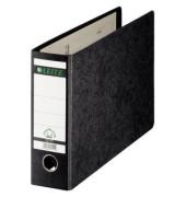 Ordner 1074 A4-quer 77mm schwarz Recycling mit Griffloch