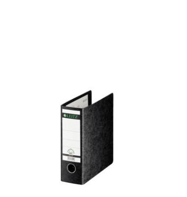 Ordner 1075 A5-hoch 77mm schwarz Recycling mit Griffloch
