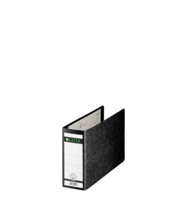 Ordner 1076 A5-quer 77mm schwarz Recycling ohne Griffloch