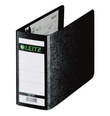 Ordner 1078 A6-quer 77mm schwarz Recycling ohne Griffloch
