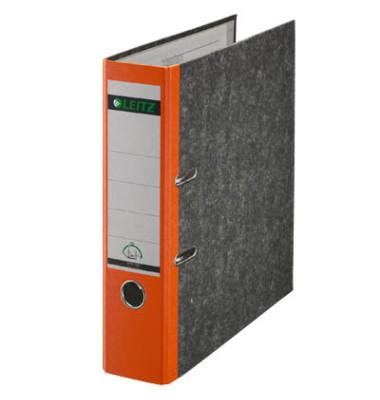180° 10805045 Wolkenmarmor orange Ordner A4 80mm breit