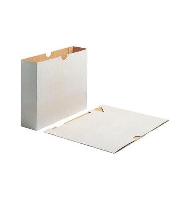 Archivordner 1194 Futterale Vollpappe mit Greifausschnitt A4 78mm grau