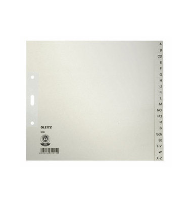 Kartonregister 1200-00-85 A-Z A4+ halbe Höhe 100g graue Taben 20-teilig