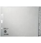 Kartonregister 1210-00-85 A-Z A4+ halbe Höhe 100g graue Taben 20-teilig