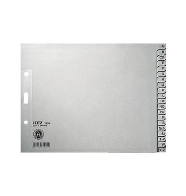 Kartonregister 1210 A-Z A4+ halbe Höhe 100g graue Taben 20-teilig