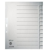 Kartonregister 1222 blanko A4+ 100g graue Taben 12-teilig