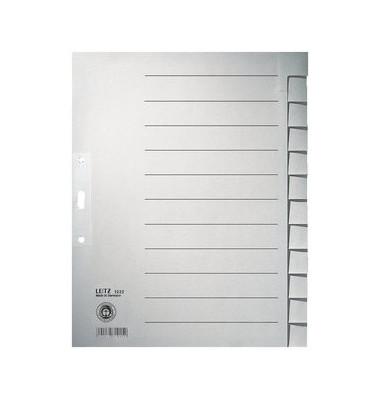 Register 1222 blanko A4+ 100g graue Taben 12-teilig