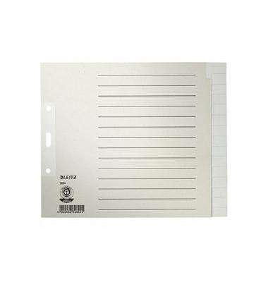 Kartonregister 1224 blanko A4+ halbe Höhe 100g graue Taben 15-teilig