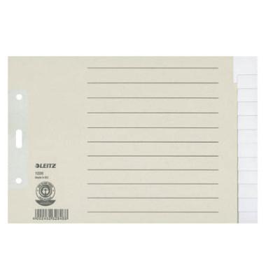 Register 1226 blanko A5-quer 100g graue Taben 12-teilig