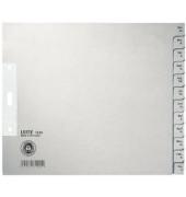 Kartonregister 1230 Dezember-Januar A4+ halbe Höhe 100g graue Taben 12-teilig