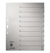 Kartonregister 1232 1-10 A4+ 100g graue Taben 10-teilig