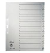 Kartonregister 1234 1-20 A4+ 100g graue Taben 20-teilig