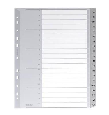 Register 1260 A-Z A4+ 0,12mm graue Taben 20-teilig