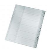 Kunststoffregister 1261-00-85 A-Z A4+ 0,12mm graue Taben 24-teilig