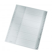 Register 1261 A-Z A4+ 0,12mm graue Taben 24-teilig